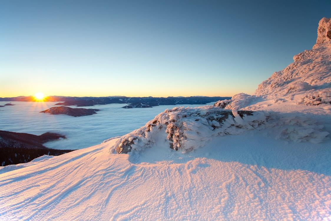 Sun rising at Chleb